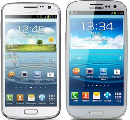 Samsung Premier (слева) и Samsung Galaxy S II (справа)