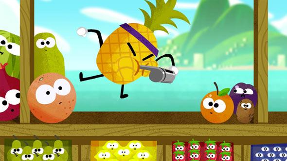 Google отмечает старт Олимпийских игр сDoodle Fruit Games