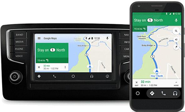 Андроид Auto сейчас работает ина телефонах